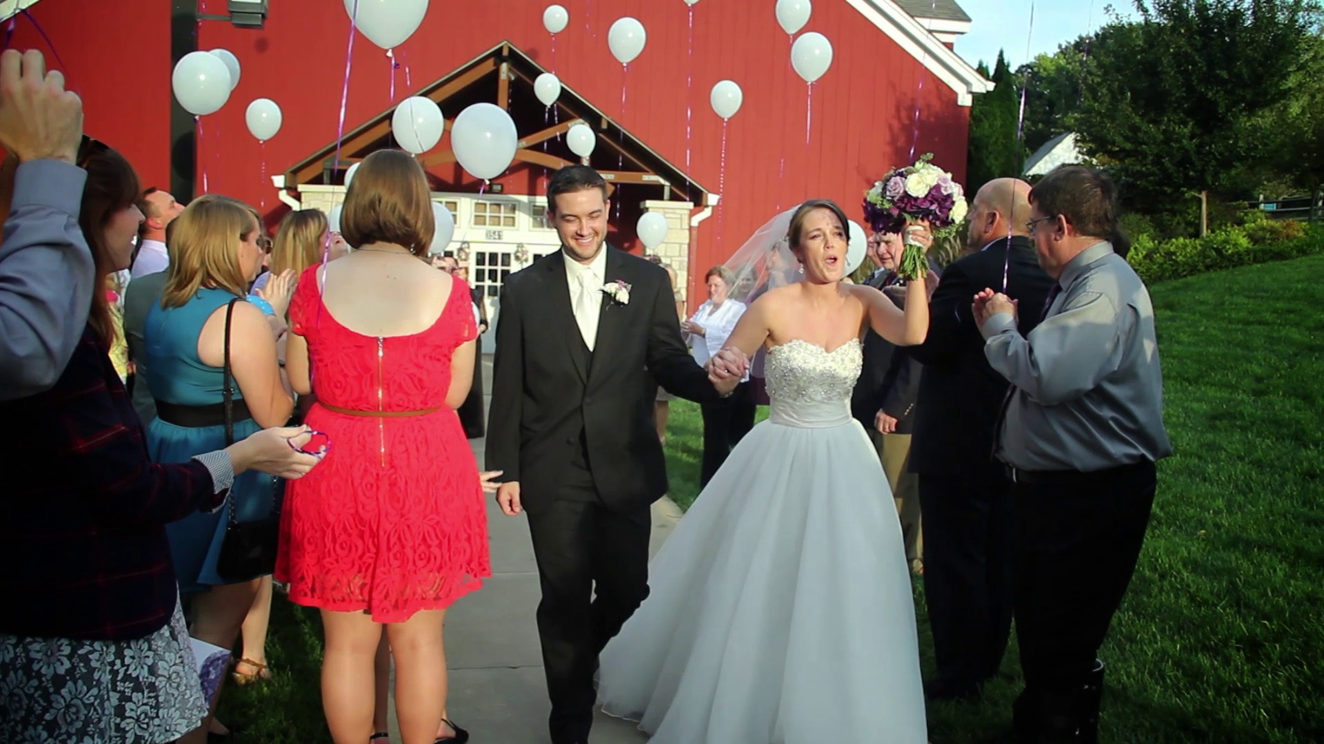 A thumbnail for Maggie and Brian's wedding highlight video