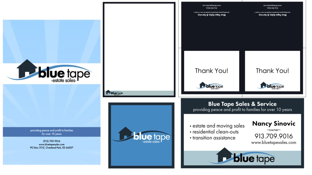 Blue Tape Sales Signage