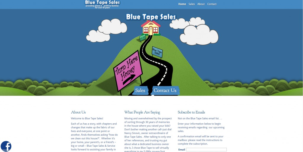 Blue Tape Sales Website Snapshot